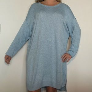 H BY HALSTON Light Blue Soft Tunic Sweater 2X